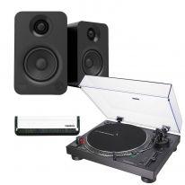 Audio Technica LP120XUSB (Black) + Kanto YU (Black) Bundle