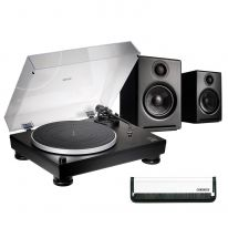Audio Technica AT-LP5x + Audioengine A2+ Wireless (Black) Bundle