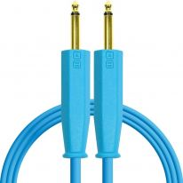 DJ Techtools Chroma Dual 6.3mm TRS - Dual 6.3mm TRS Cable 1.5m (Blue)