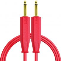 DJ Techtools Chroma Dual 6.3mm TRS - Dual 6.3mm TRS Cable 1.5m (Red)