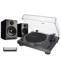 Audio Technica LP120XUSB (Black) + Audioengine A2+ Wireless Bundle