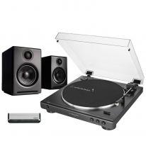 Audio Technica LP60XUSB + Audioengine A2+ Wireless (Black) Bundle