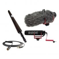 Rode VideoMic Go + Micro Boompole + Windshield + VC1 Bundle